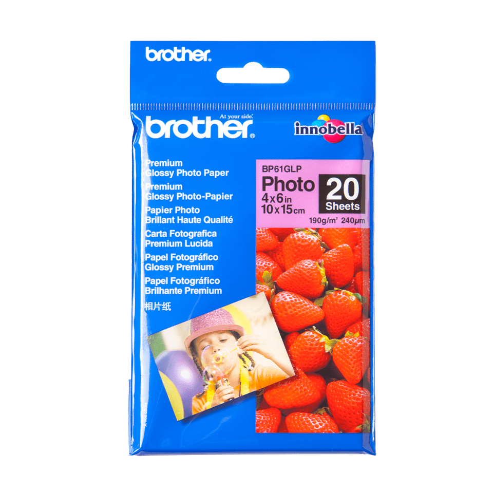 Original BP-61GLP Glanzpapier von Brother (10 cm x 15 cm)