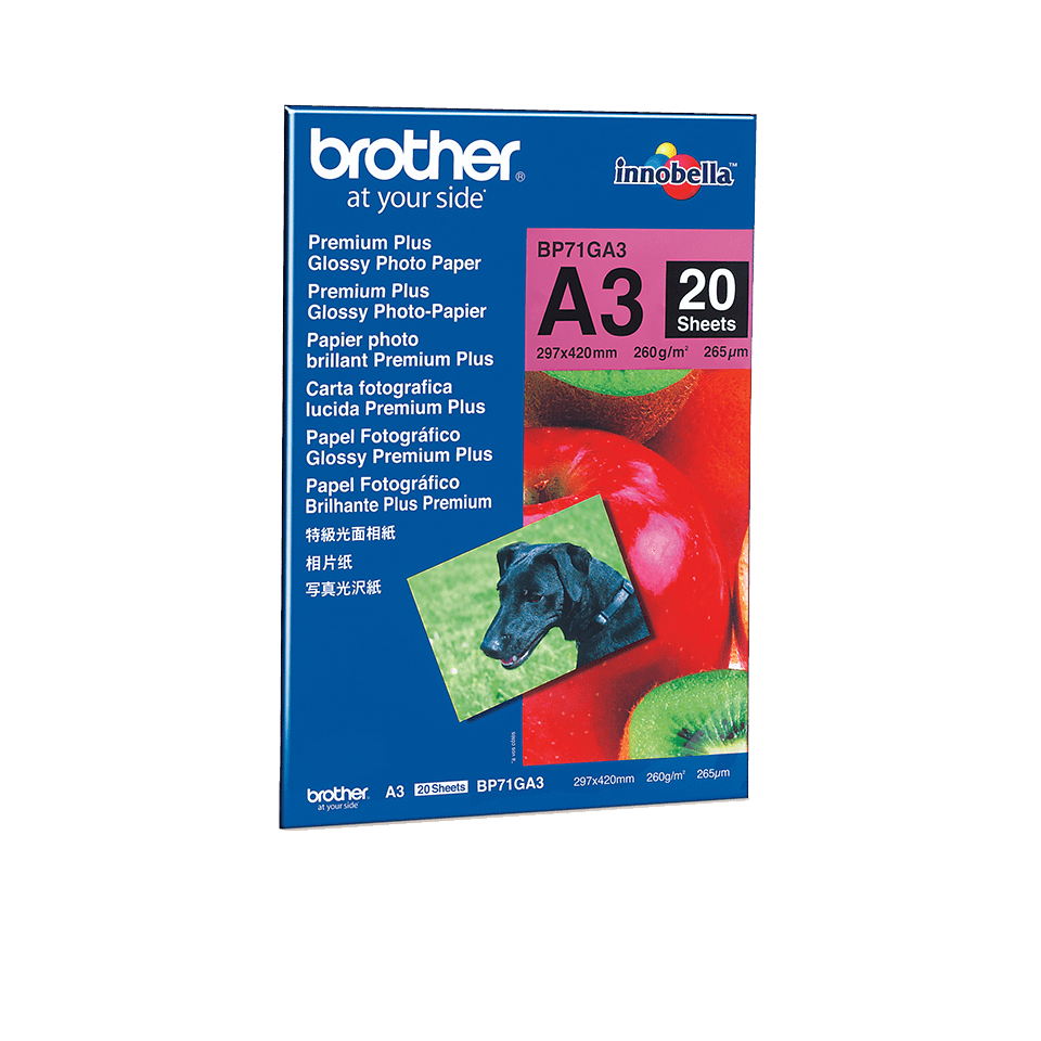 Original BP-71GA3 DIN A3 Glanzpapier von Brother