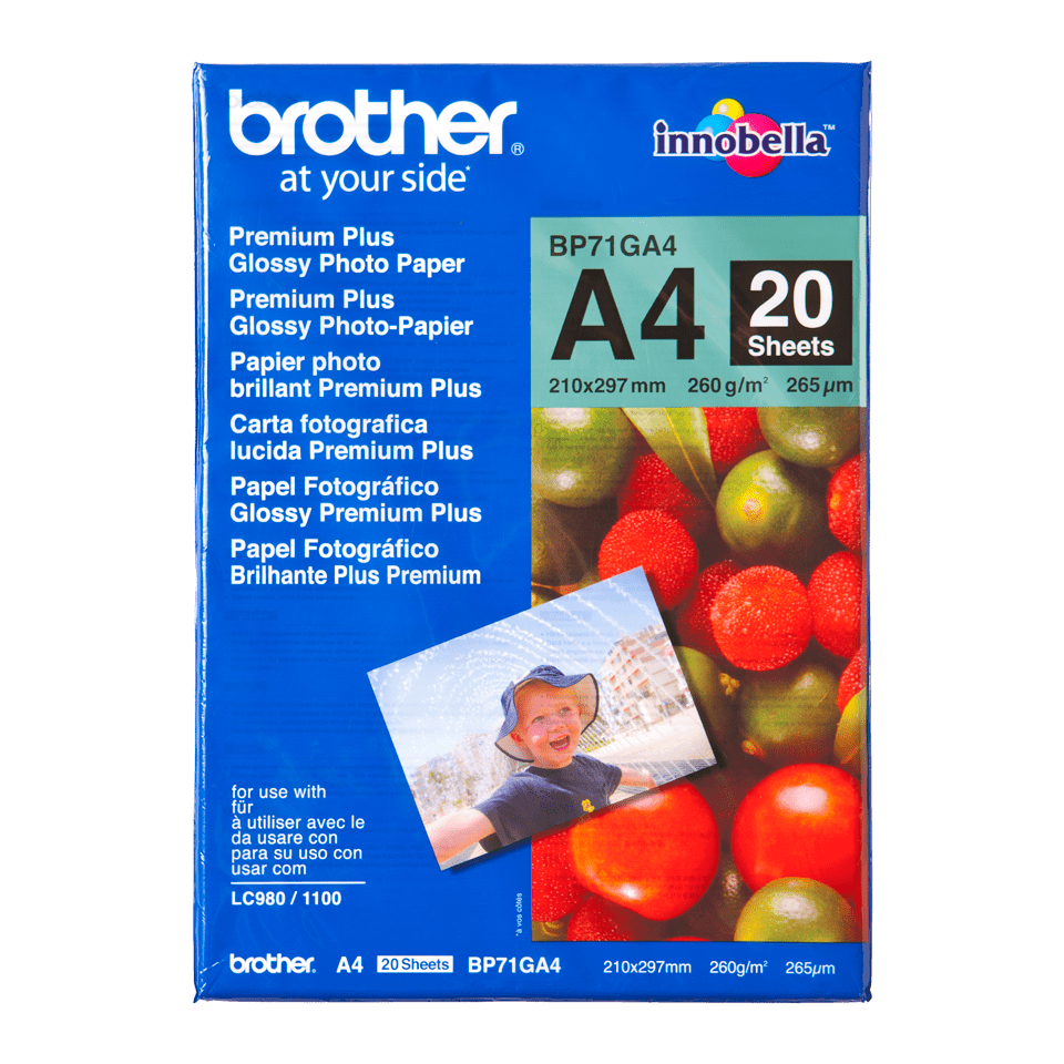 Original BP-71GA4 DIN A4 Glanzpapier von Brother