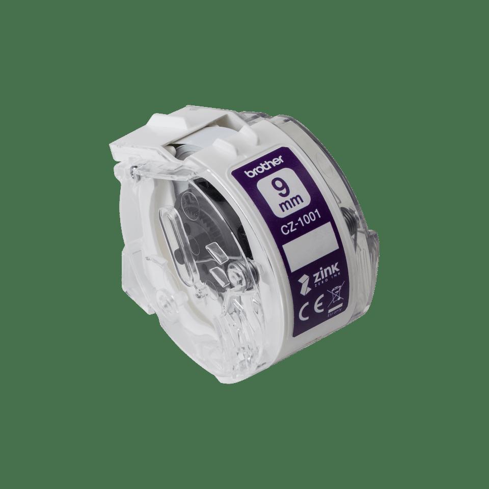 Rouleau continu d'étiquettes pleine couleur Brother CZ-1001 d'origine, 9 mm de large 2