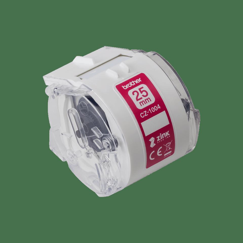 Rouleau continu d'étiquettes pleine couleur Brother CZ-1004 d'origine, 25 mm de large 2