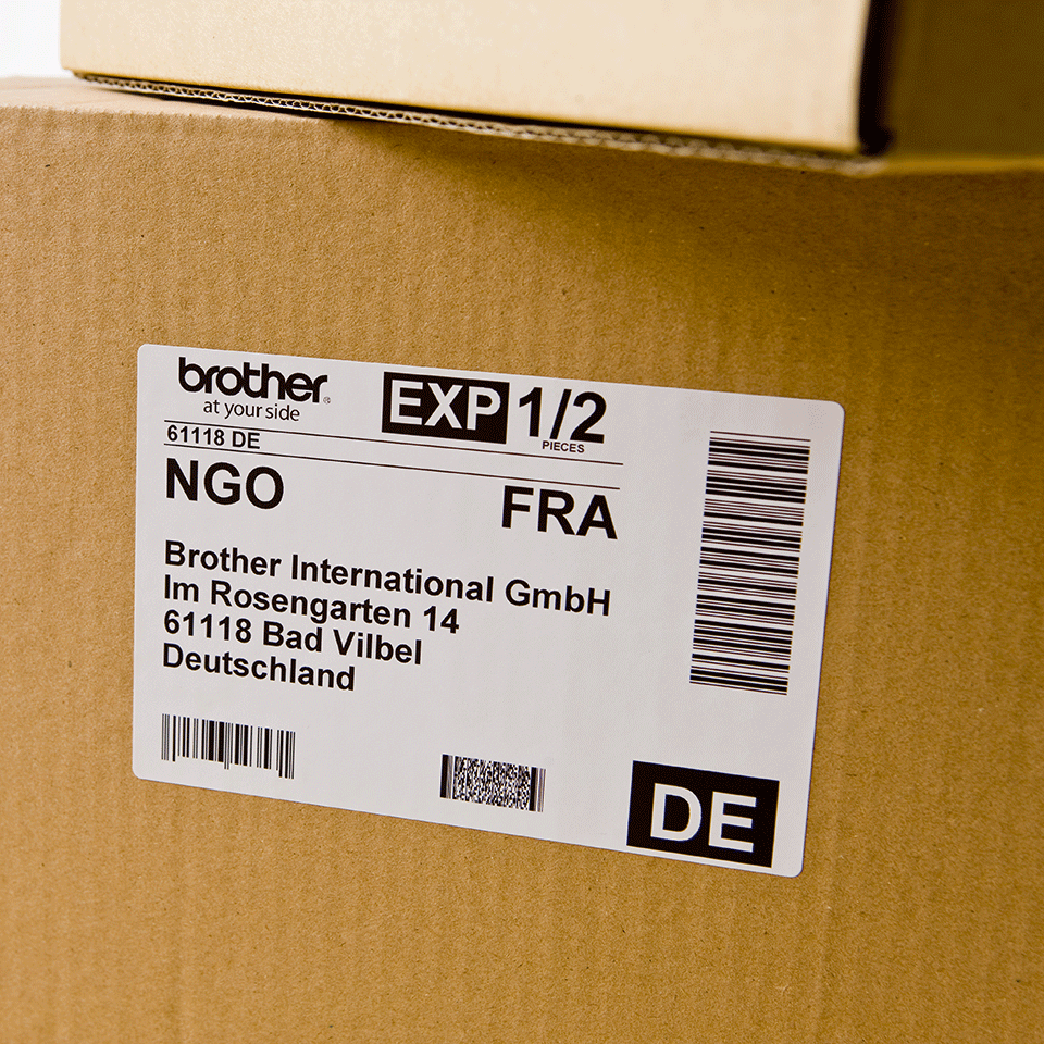 Original DK-11202 Versandetikettenrolle von Brother – Schwarz auf Weiß, 63 × 100mm 2