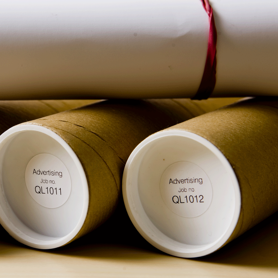 Original DK-11218 Rolle mit runden Etiketten von Brother – Schwarz auf Weiß, Papier, Ø24mm 2