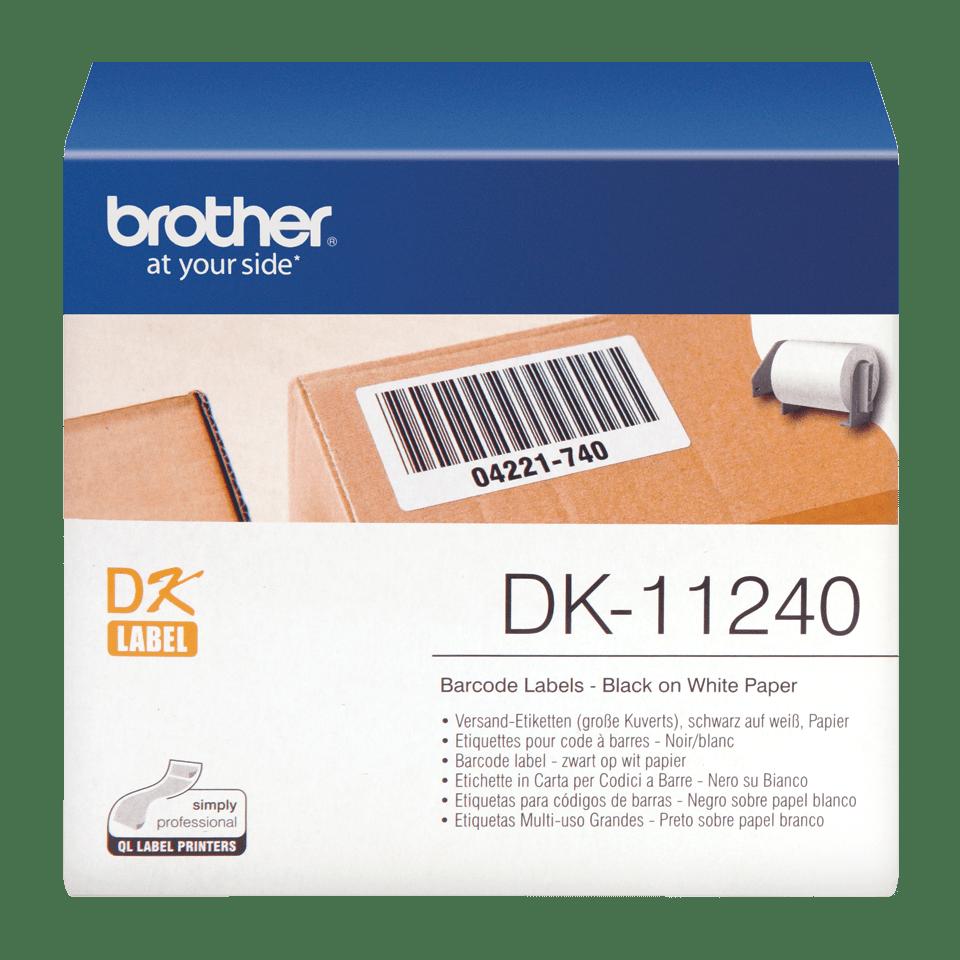 Rouleau d'étiquettes DK-11240 Brother original – Noir sur blanc, 102x 51mm