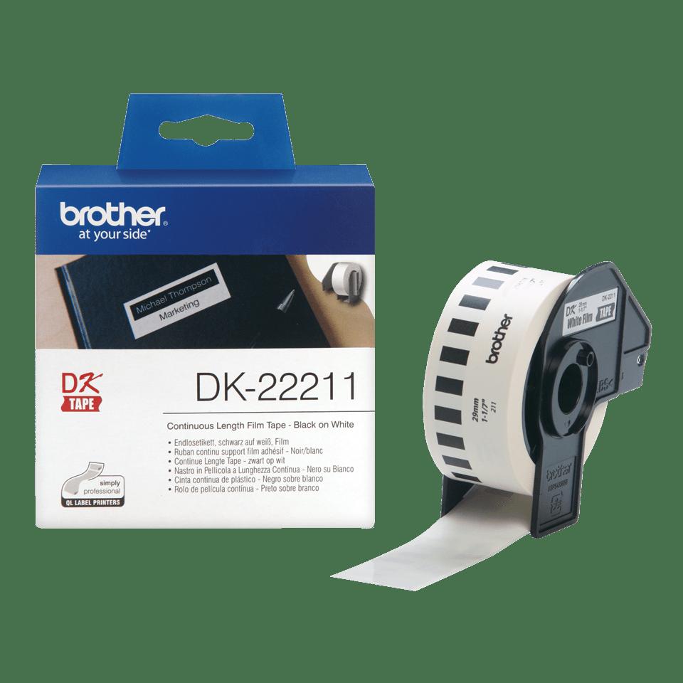 Rouleau d'étiquettes DK-22211 Brother original – Blanc, 29mmx15,24m