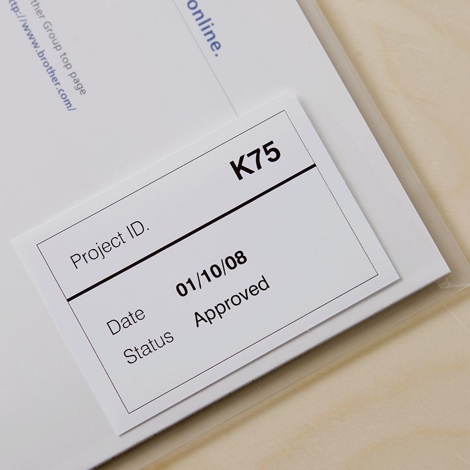 Original DK-22212 Endlosetikettenrolle von Brother – Schwarz auf Weiß, Film, 62mm breit 2