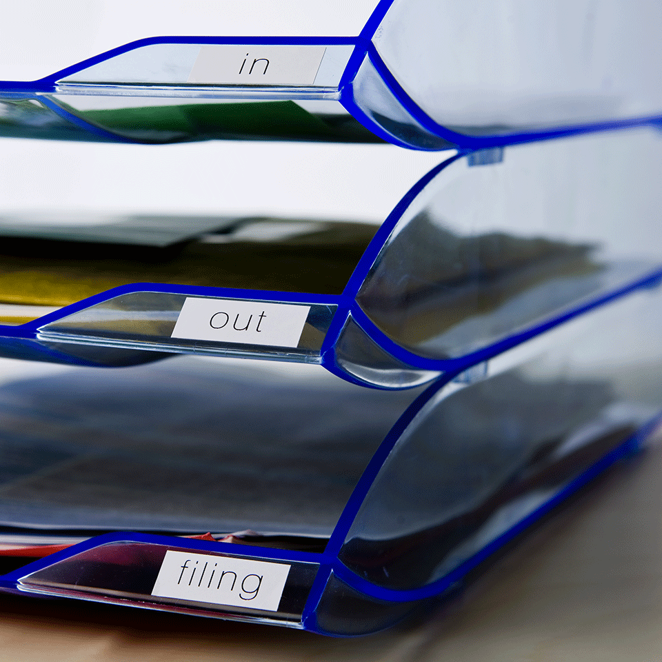 Original DK-22214 Endlosetikettenrolle von Brother – Schwarz auf Weiß, Papier, 12mm breit 2