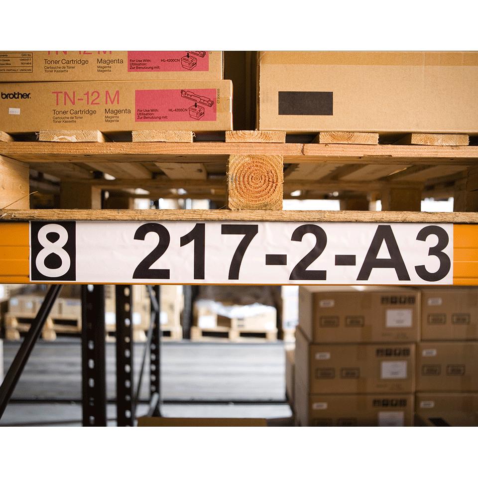 Original DK-22243 Endlosetikettenrolle von Brother – Schwarz auf Weiß, Papier, 102mm breit 1