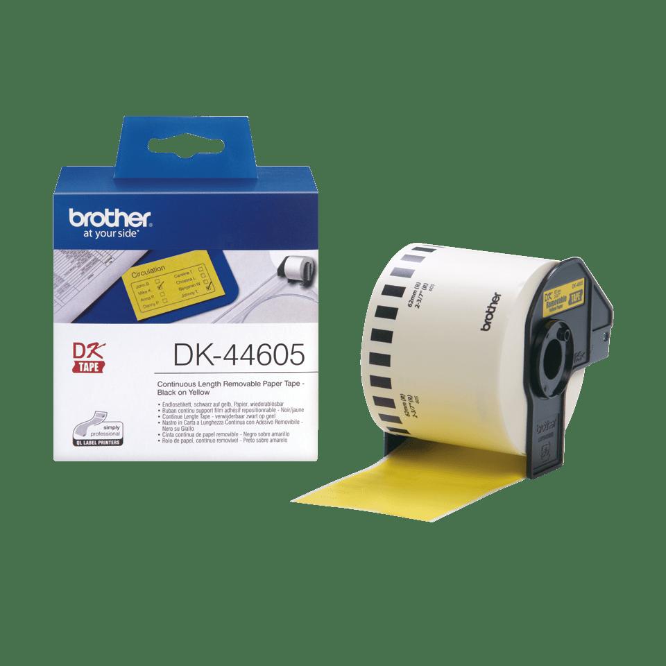 Ruban de papier continu DK-44605 Brother original – Jaune, 62mmx30,48m