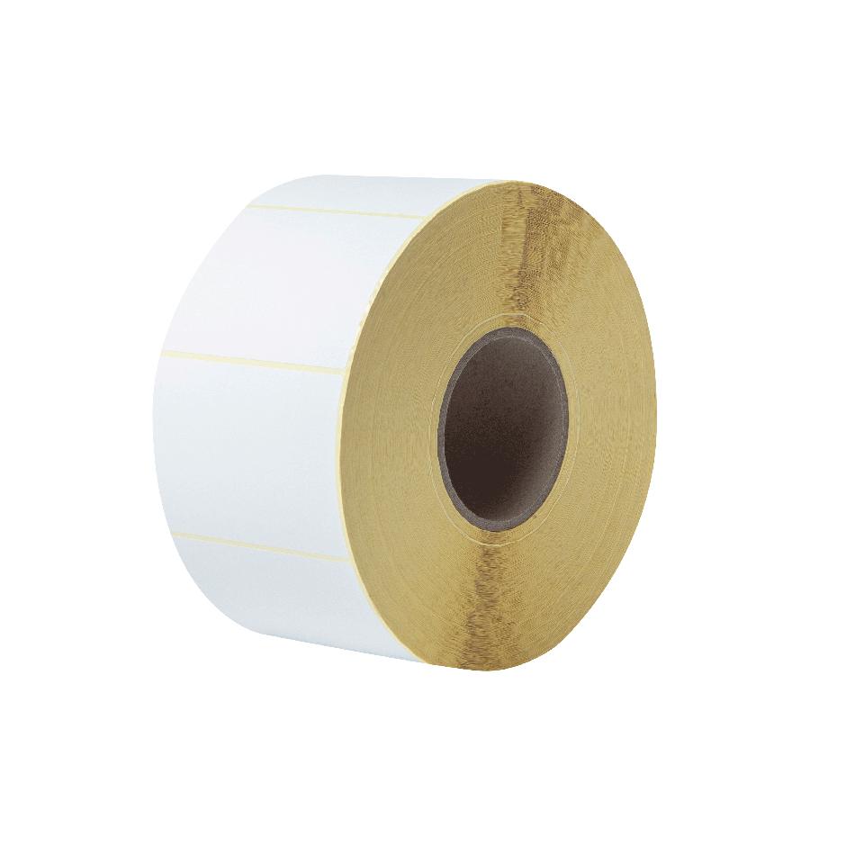Rouleau d'étiquettes blanches découpées non couchées à transfert thermique BUS-1J074102-203