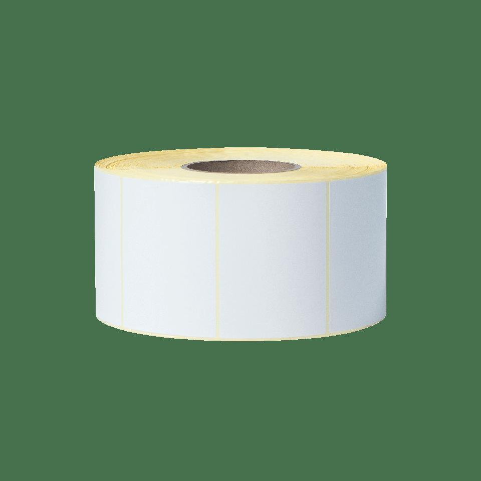 BUS-1J074102-203 Unbeschichtete Etikettenrolle mit vorgestanzten, weissen Thermotransfer-Etiketten 2