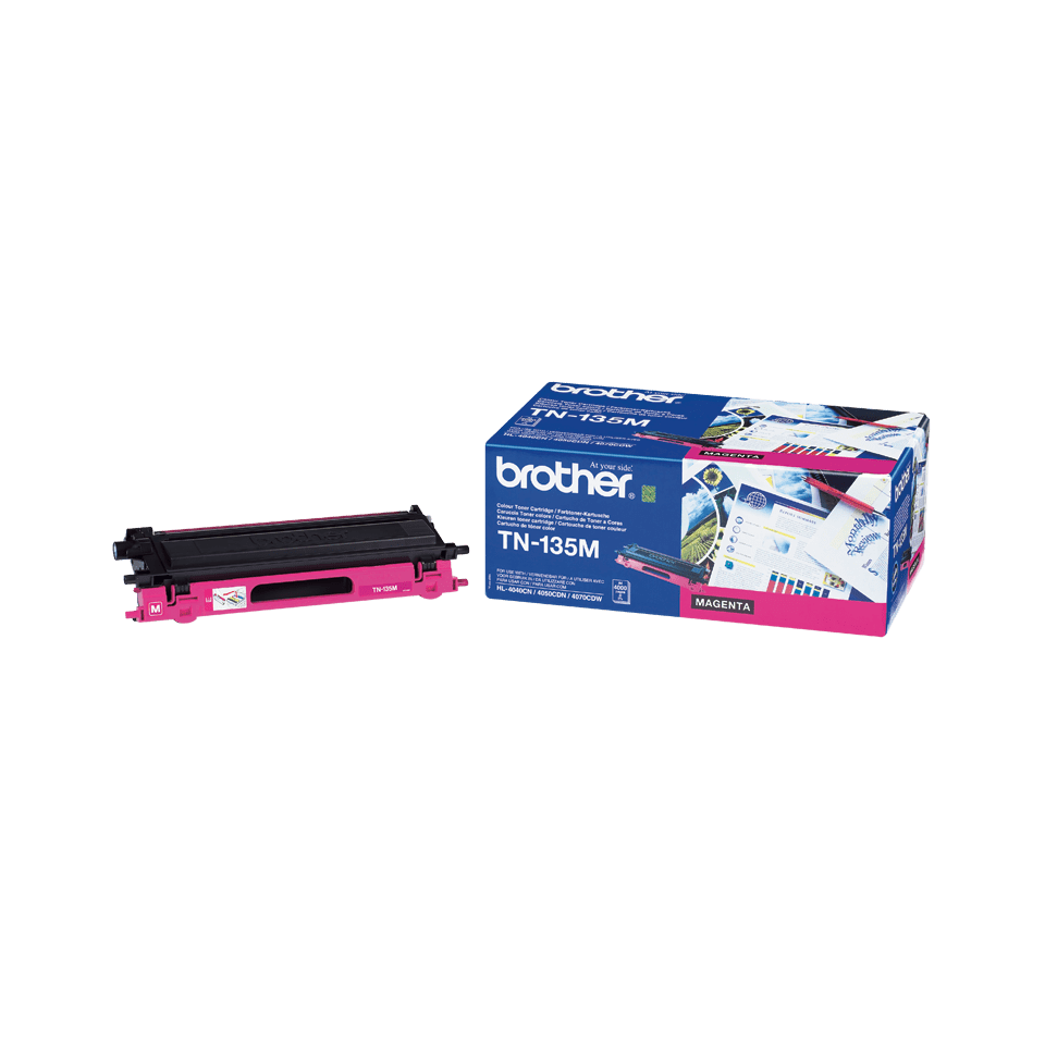 Cartouche de toner TN-135M Brother originale à haut rendement – Magenta