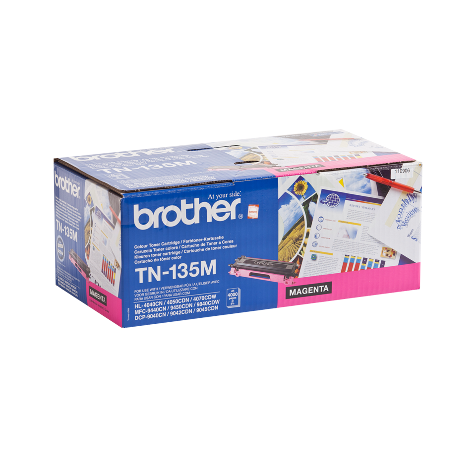 Cartouche de toner TN-135M Brother originale à haut rendement – Magenta 2