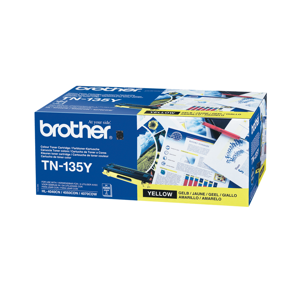 Cartouche de toner TN-135Y Brother originale à haut rendement – Jaune