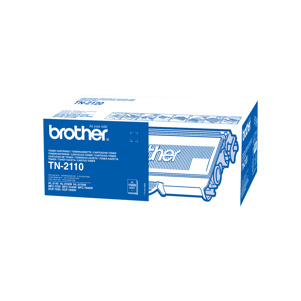 Cartouche de toner TN-2110 Brother originale – Noir