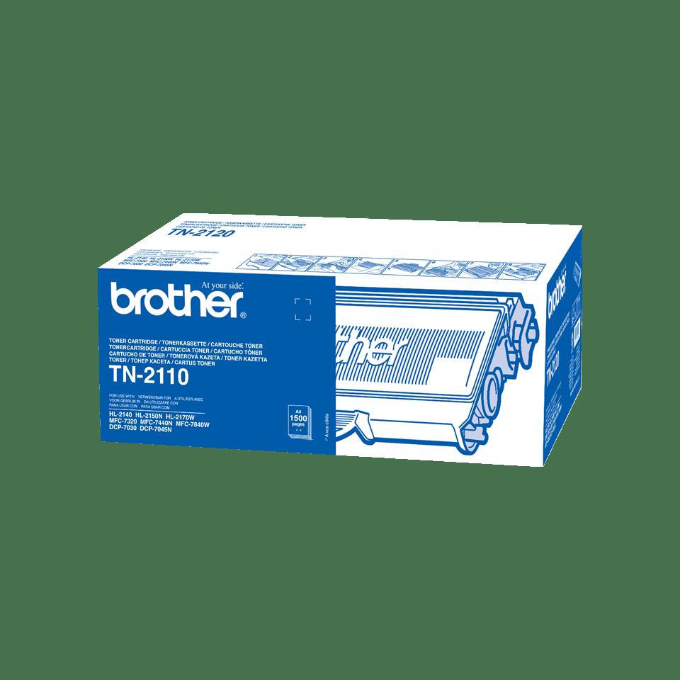 Original TN-2110 Tonerkartusche von Brother – Schwarz