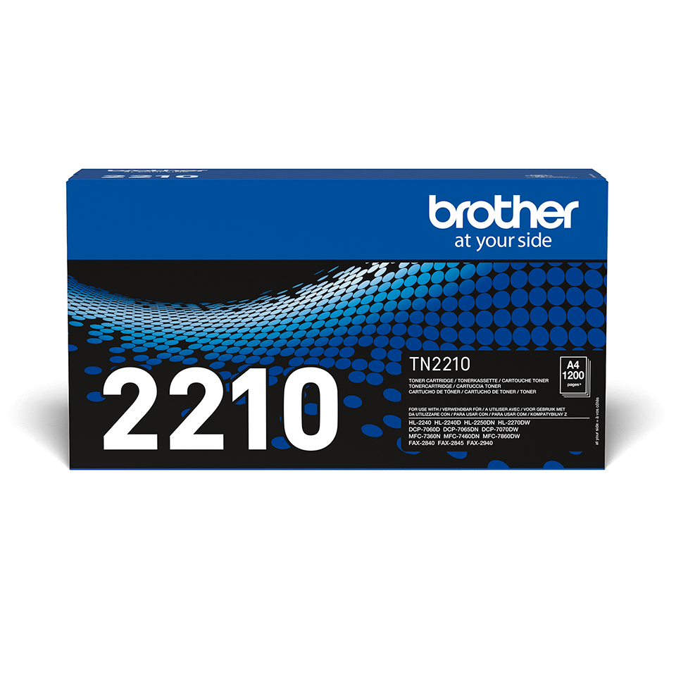Cartouche de toner TN-2210 Brother originale – Noir
