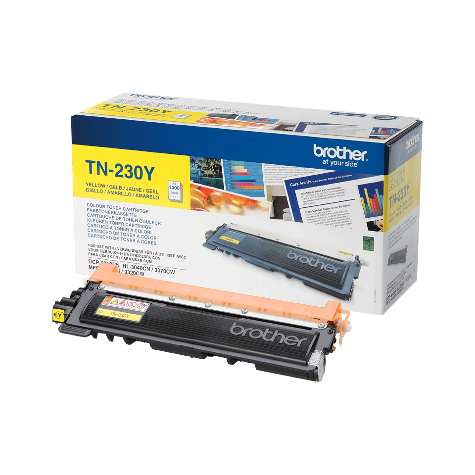 Cartouche de toner TN-230Y Brother originale – Jaune