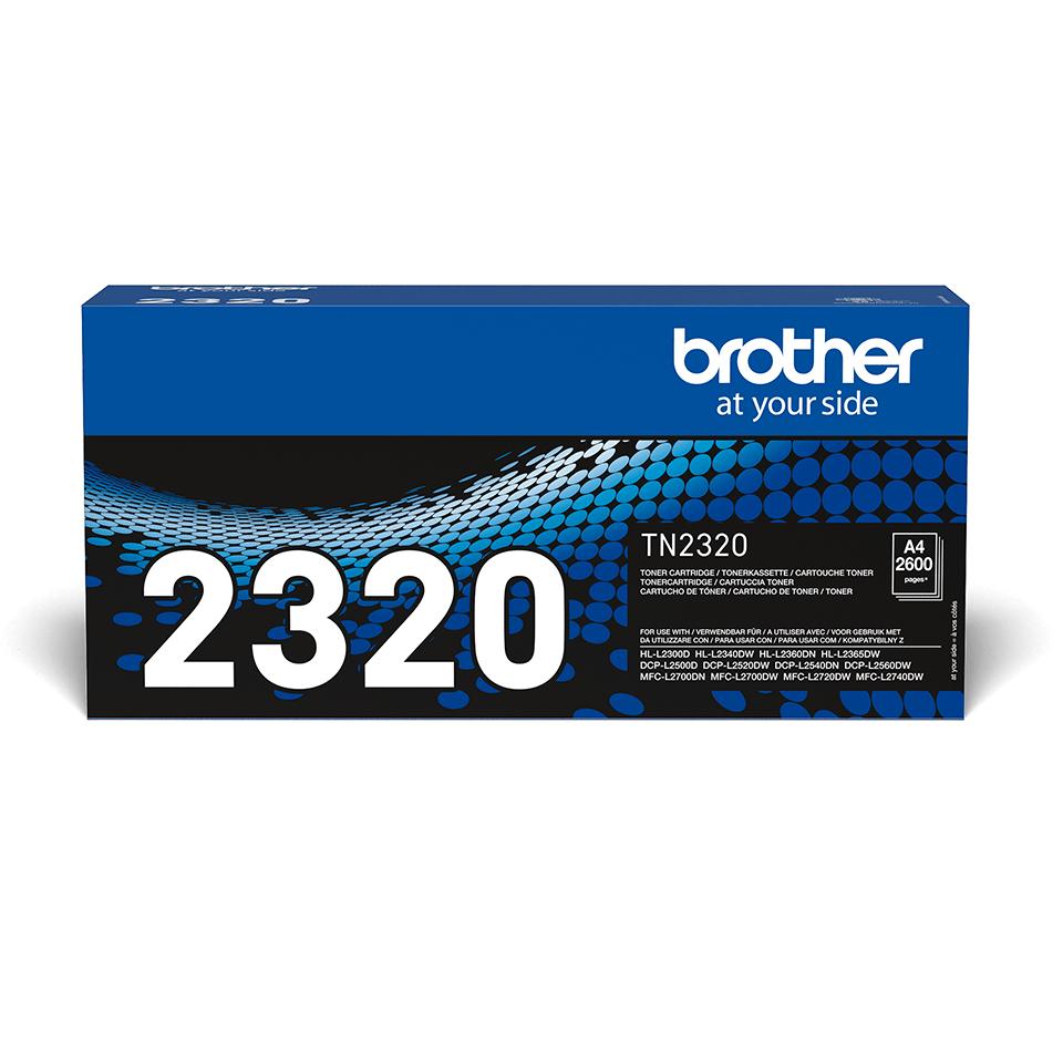 Cartouche de toner TN-2320 Brother originale à haut rendement – Noir