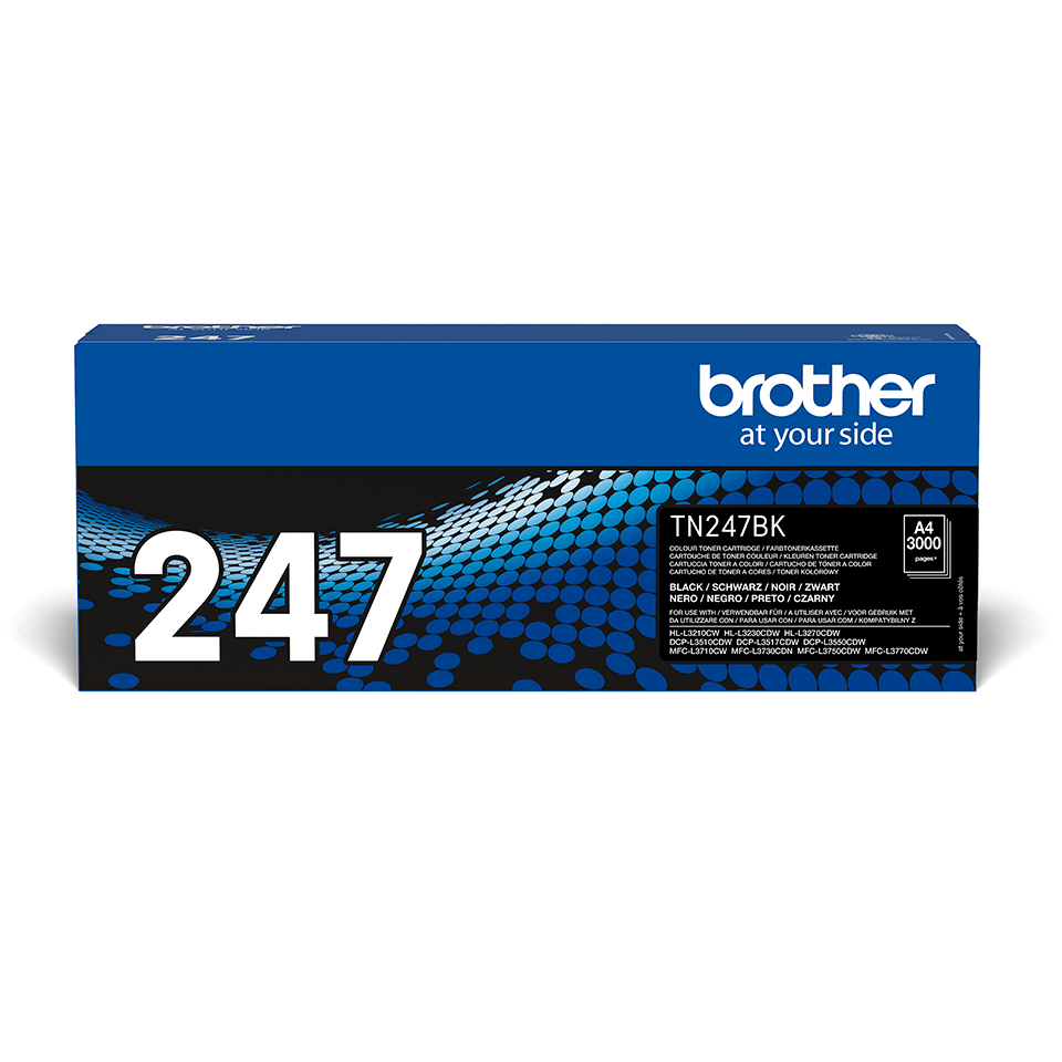 Cartouche de toner TN-247BK Brother originale – Noir