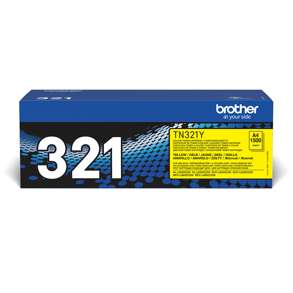 Cartouche de toner TN-321Y Brother originale – Jaune