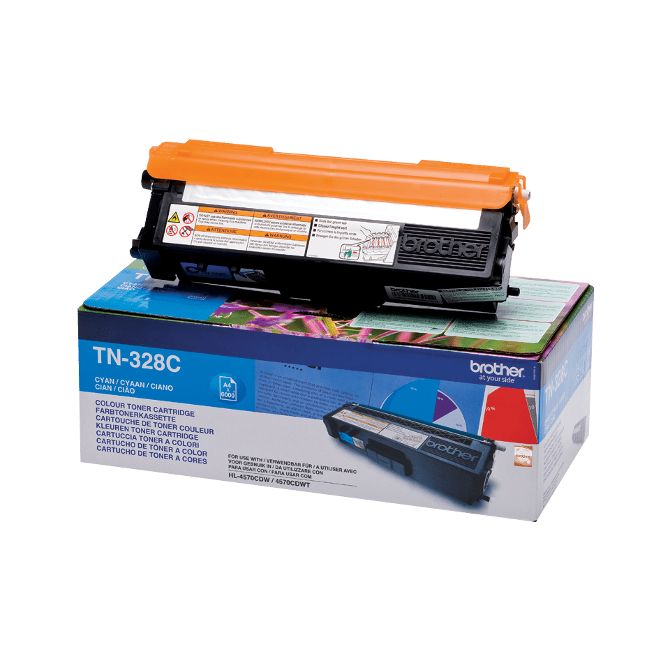 Cartouche de toner TN-328C Brother originale – Cyan 2