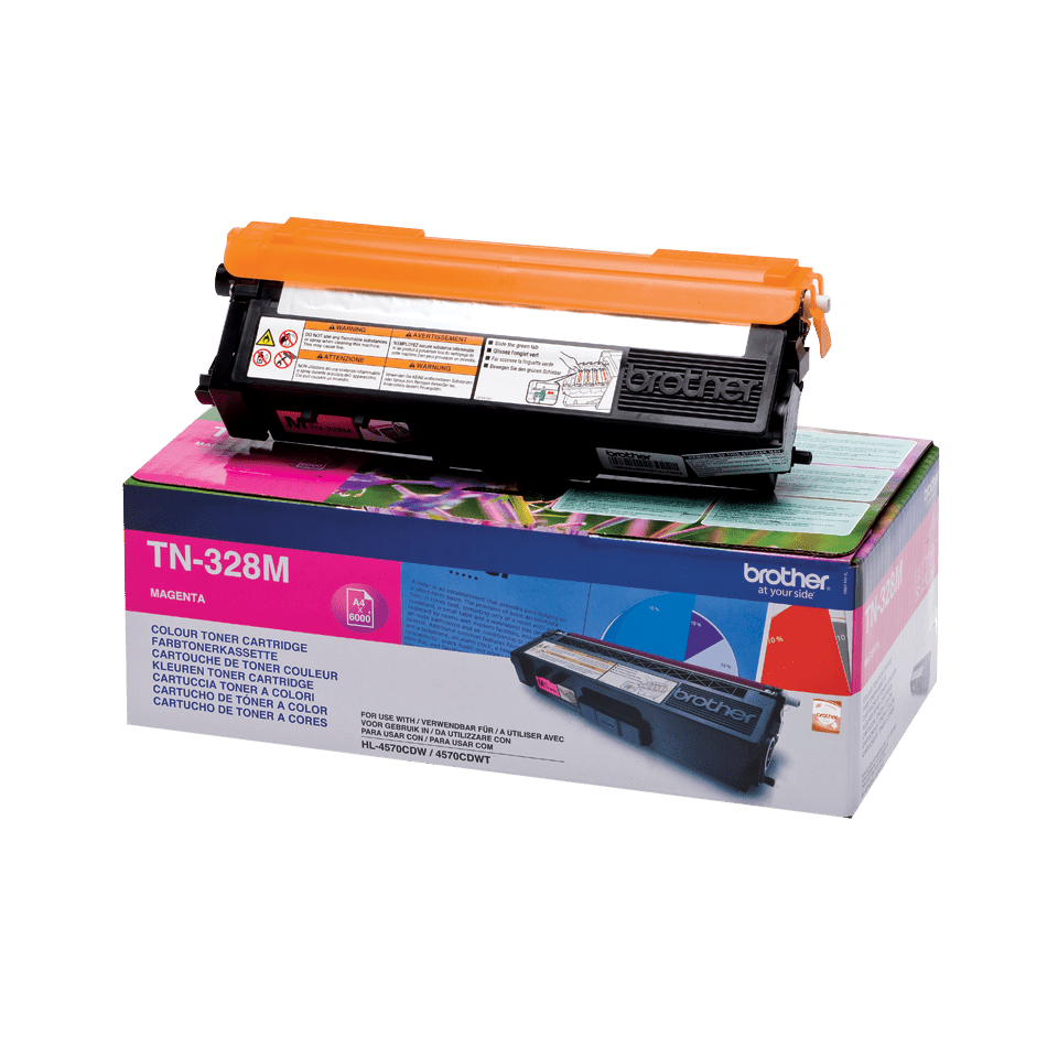 Cartouche de toner TN-328M Brother originale – Magenta