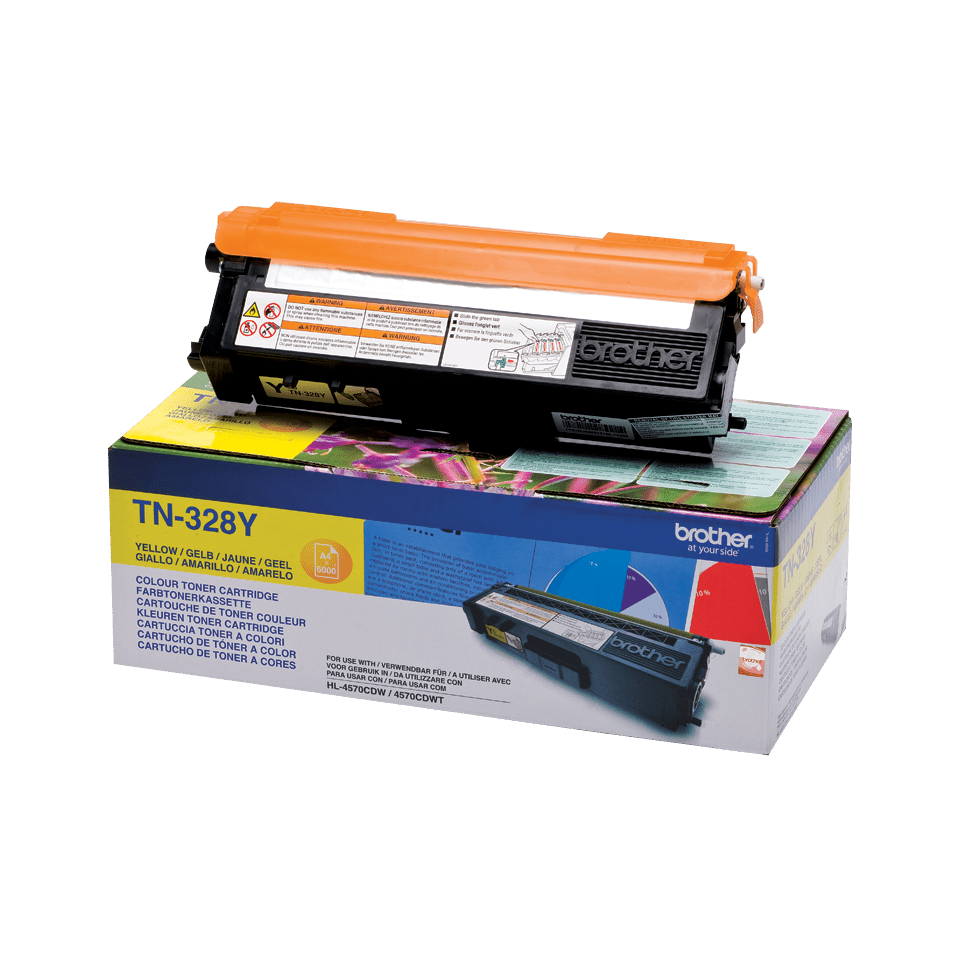 Cartouche de toner TN-328Y Brother originale – Jaune