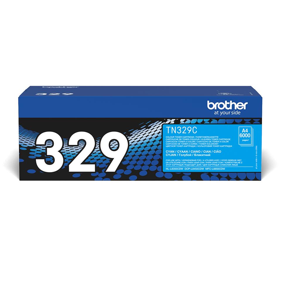 Original TN-329C Tonerkartusche von Brother – Cyan