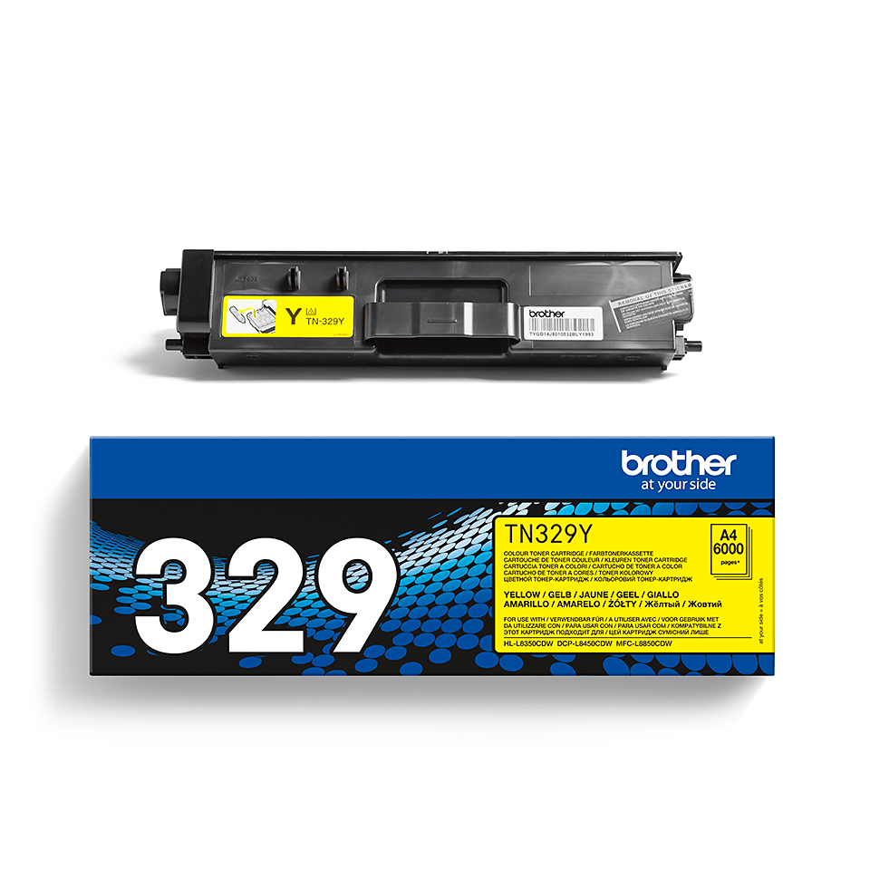 Cartouche de toner TN-329Y Brother originale – Jaune 2