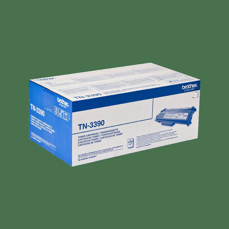 Original TN-3390 High Yield Tonerkartusche von Brother – Schwarz  2