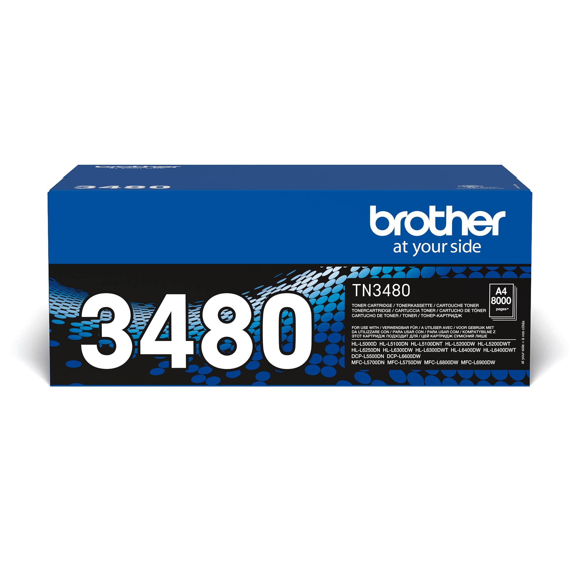 Toner TN-3480 Original Brother – Schwarz