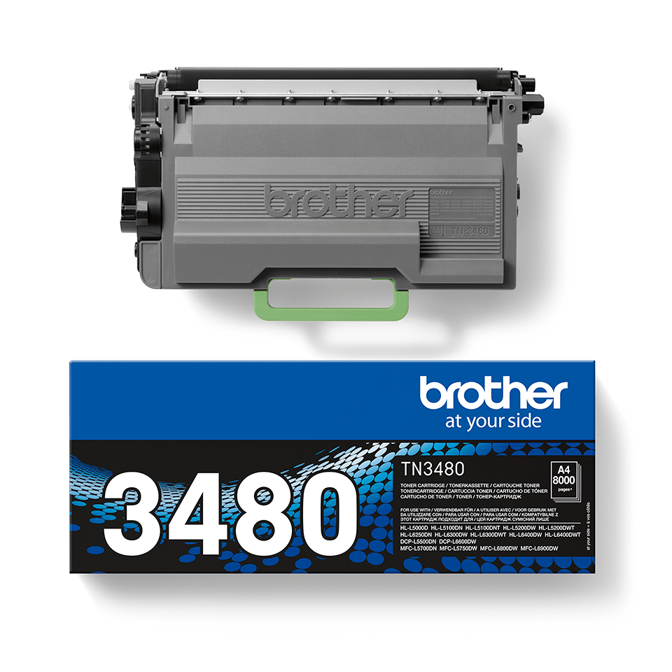 Toner TN-3480 Original Brother – Schwarz 2