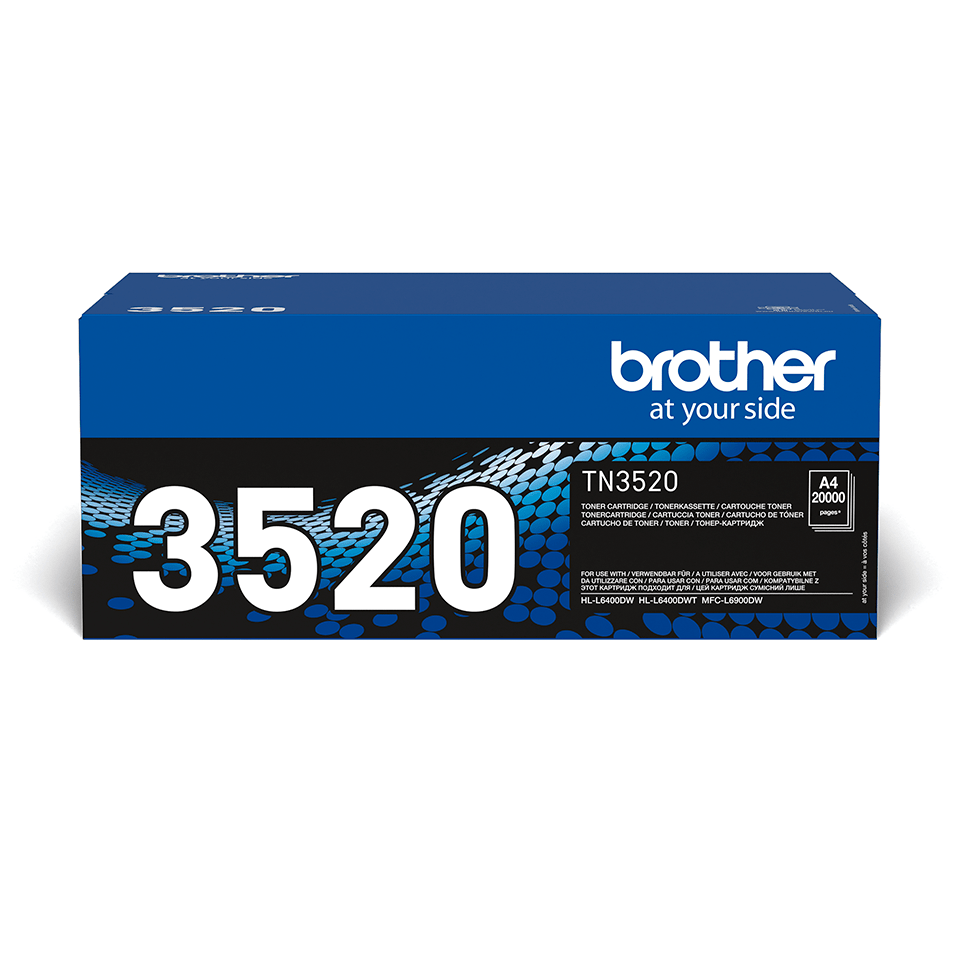 Cartouche de toner TN-3520 Brother originale à très haut rendement – Noir