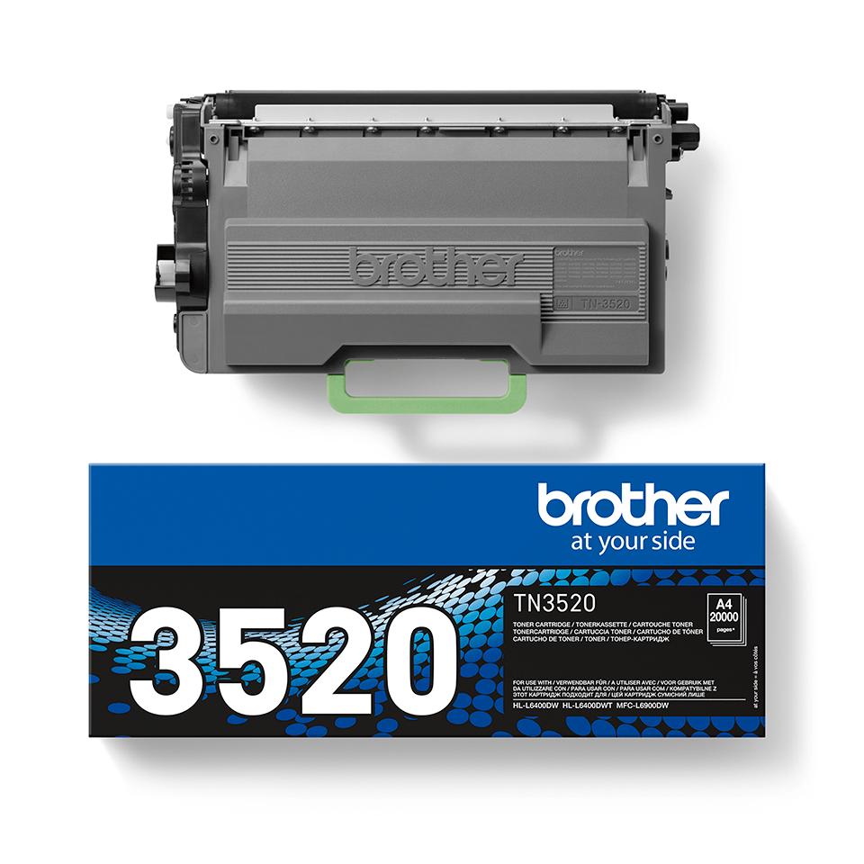 Cartouche de toner TN-3520 Brother originale à très haut rendement – Noir 2