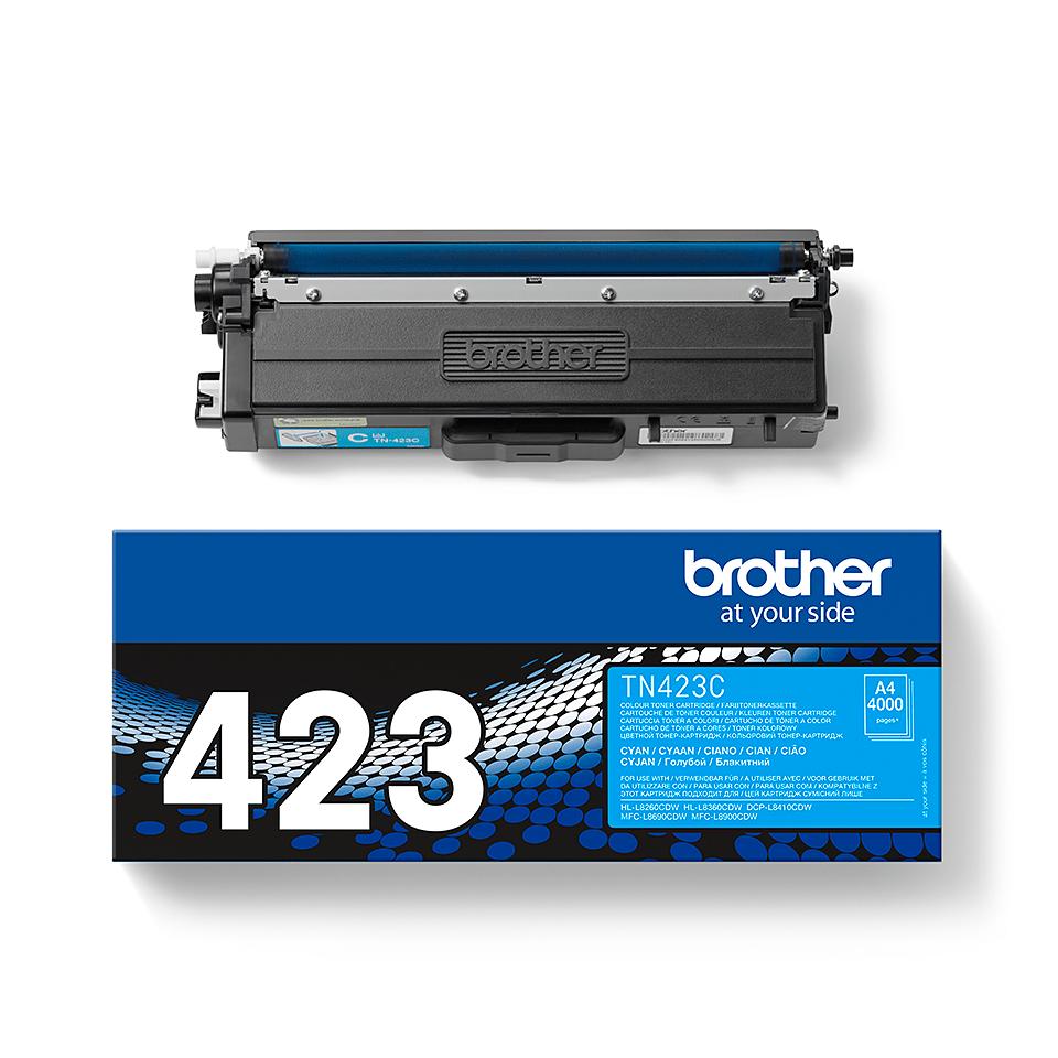 Brother TN-423C Toner Cartridge - Cyan 1