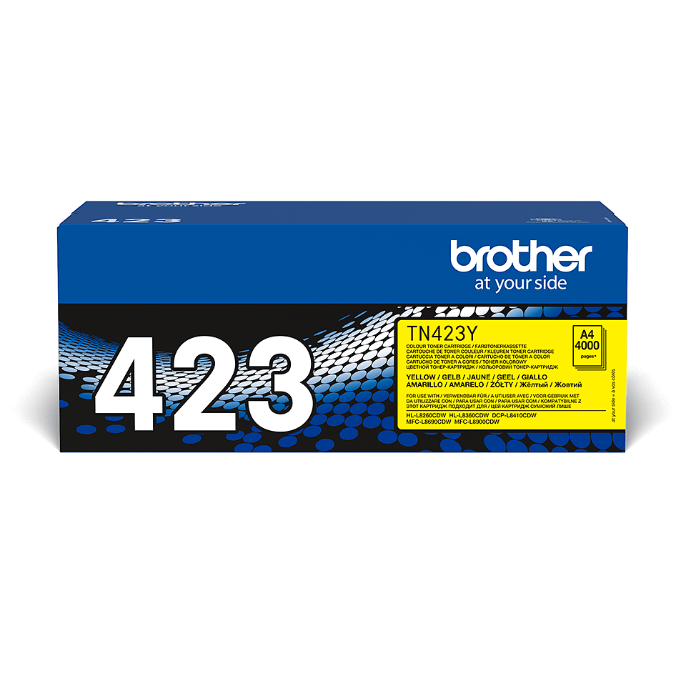 Cartouche de toner TN-423Y Brother originale – Jaune