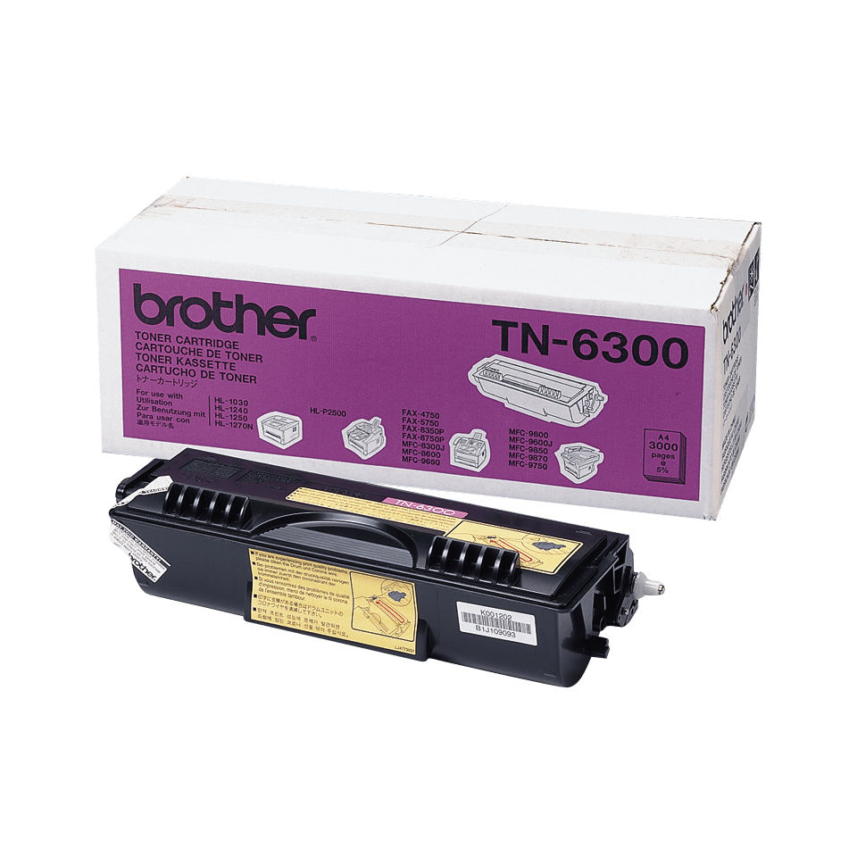 Cartouche de toner TN-6300 Brother originale à haut rendement – Noir
