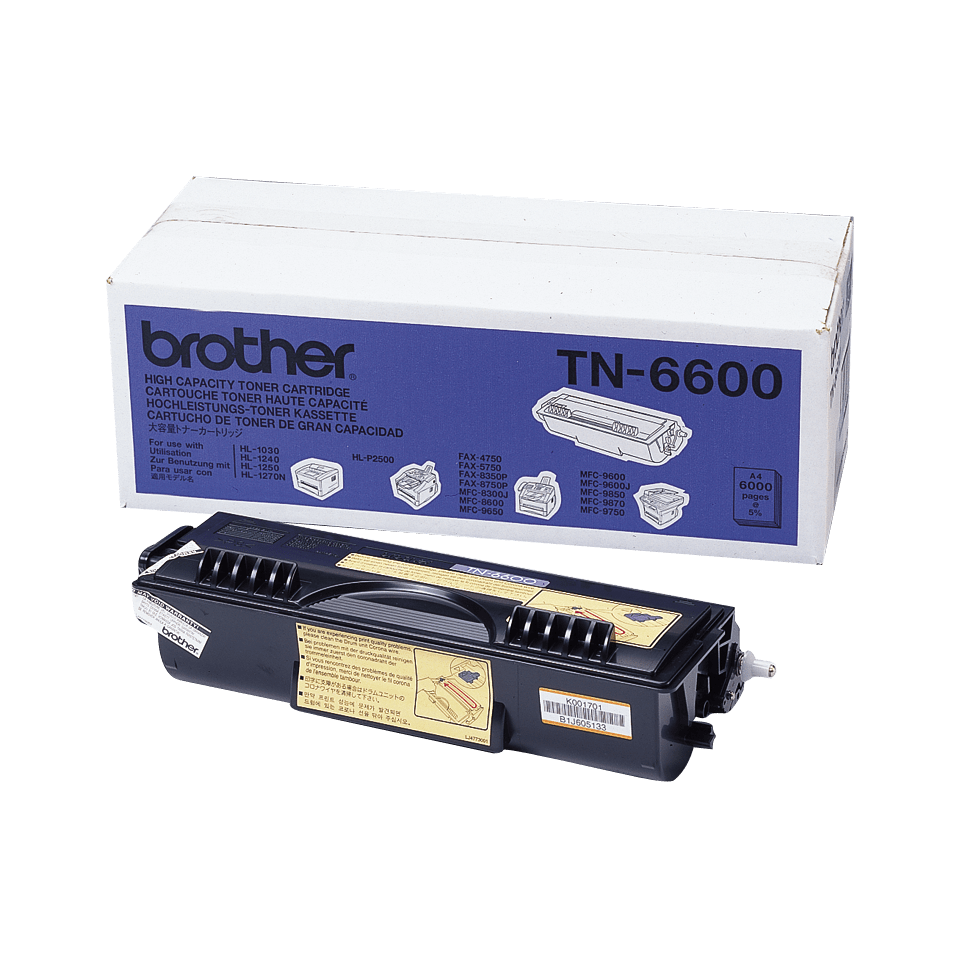 Cartouche de toner TN-6600 Brother originale à haut rendement – Noir