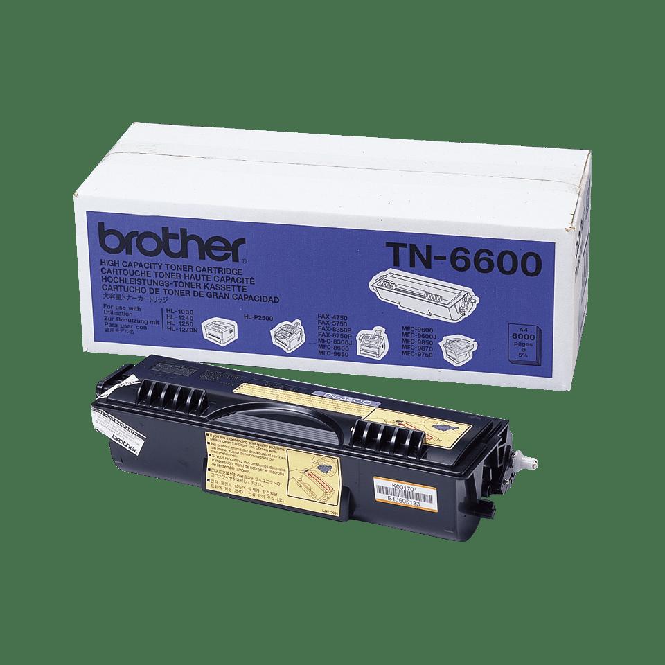 Cartouche de toner TN-6600 Brother originale à haut rendement – Noir
