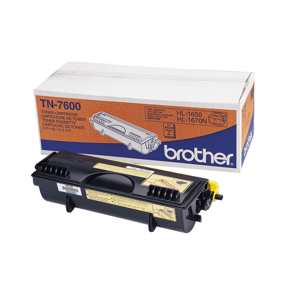 Original TN-7600 High Yield Tonerkartusche von Brother – Schwarz