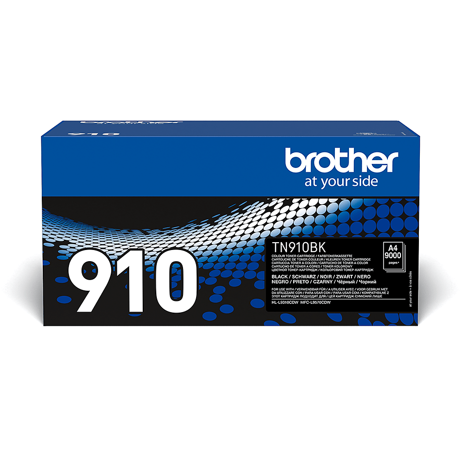 Cartouche de toner TN-910BK Brother originale – Noir