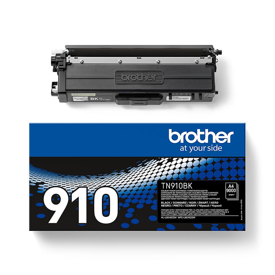Cartouche de toner TN-910BK Brother originale – Noir 2