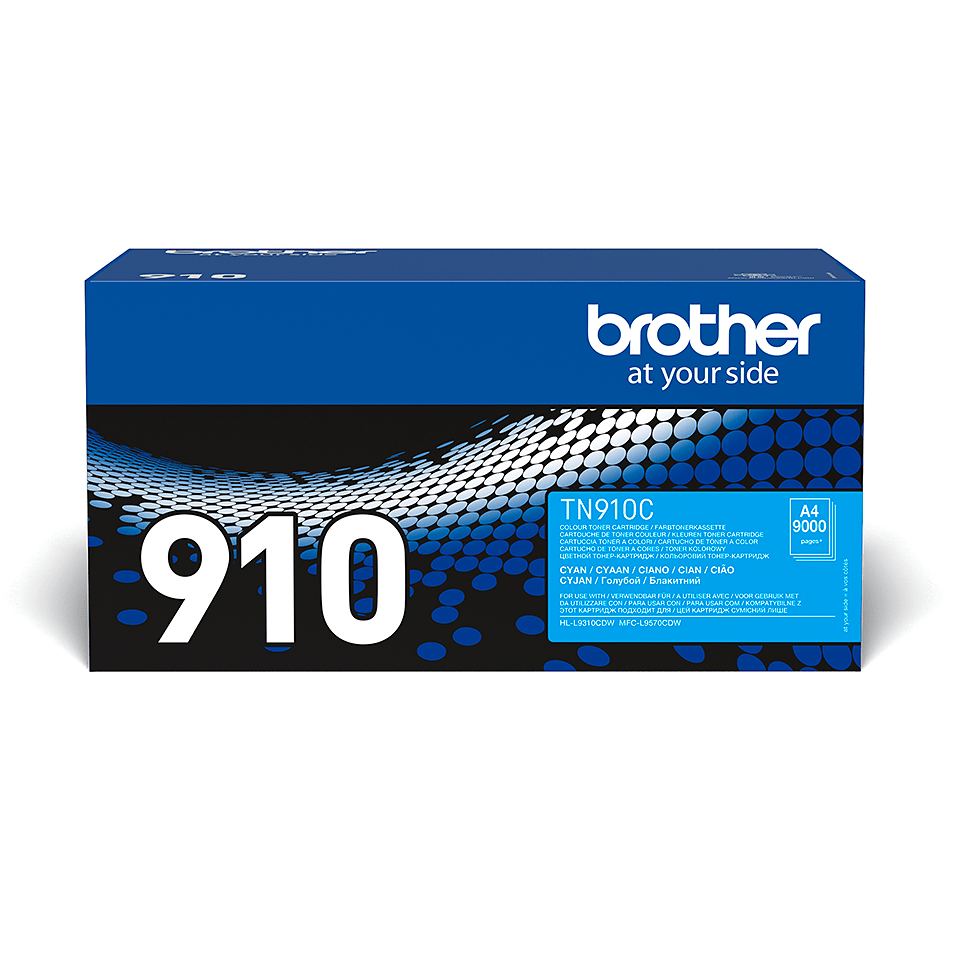 Cartouche de toner TN-910C Brother originale – Cyan