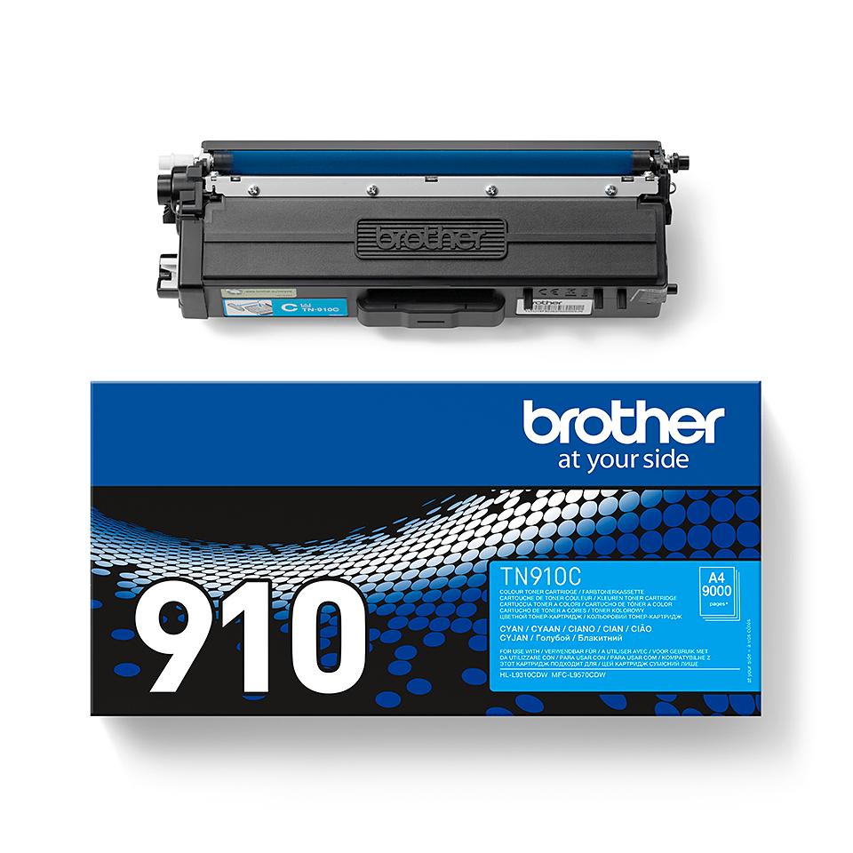 Cartouche de toner TN-910C Brother originale – Cyan 2