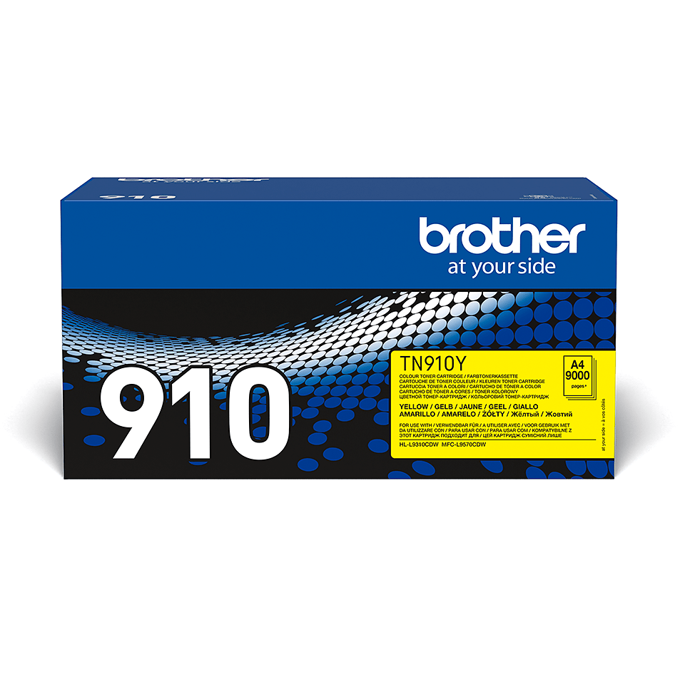 Cartouche de toner TN-910Y Brother originale – Jaune