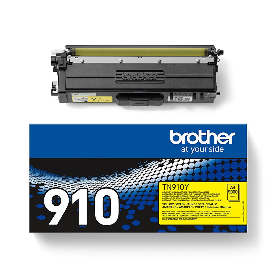 Original TN-910Y Tonerkartusche von Brother – Gelb 2