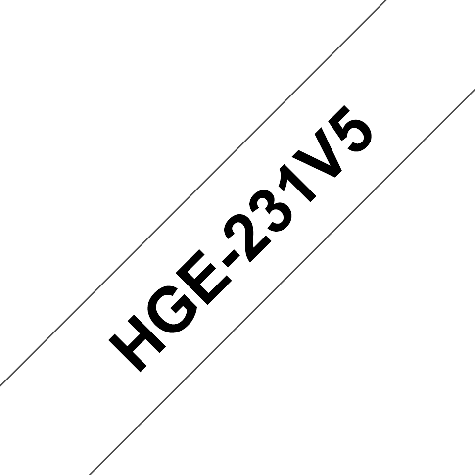 Original HGe-231V5 High Grade Schriftbandkassetten von Brother – Schwarz auf Weiß, 12mm breit