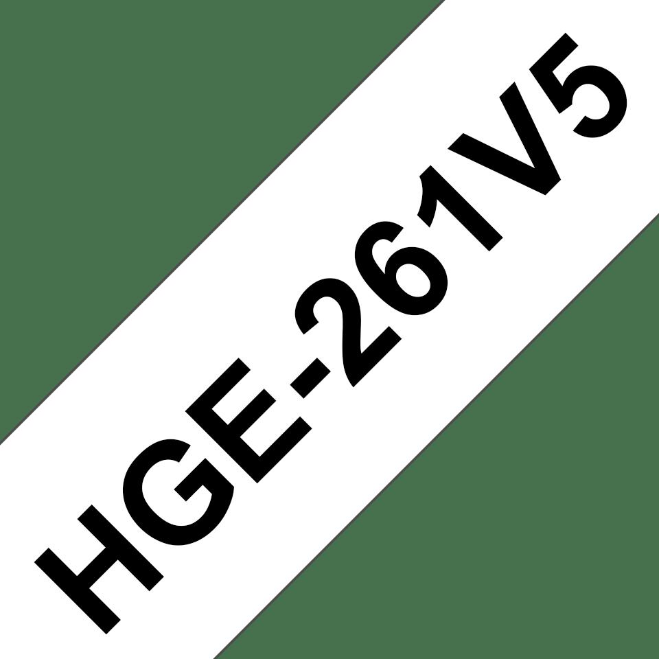 Original HGe-261V5 High Grade Schriftbandkassetten von Brother – Schwarz auf Weiß, 36mm breit