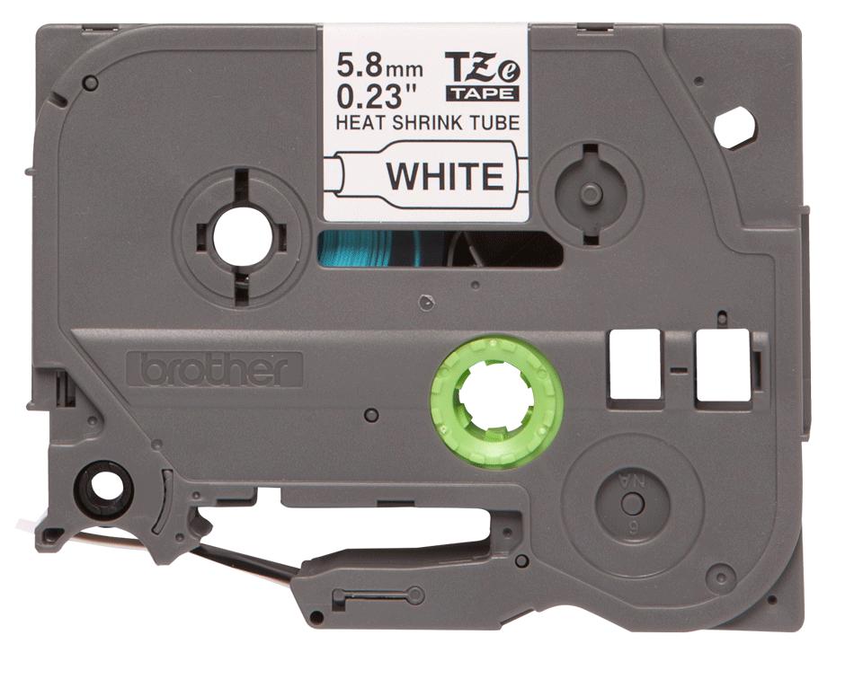 Original HSe-211 Wärmeschrumpfschlauchkassette von Brother – Schwarz auf Weiß, 5,8mm breit